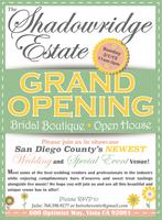 The Shadowridge Estate      ~ Open House ~  Bridal...