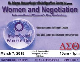 Women and Negotiation - International Women's Day...
