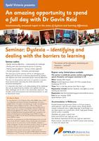 Dyslexia - Identifying and dealing with the barriers...