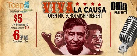 """VIVA La Causa!"" Open Mic Scholarship Benefit 2015"