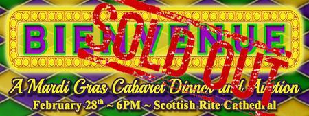 """BIENVENUE: A Mardi Gras Cabaret Dinner and Auction"""