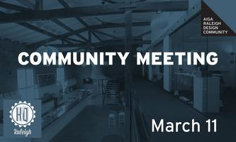 AIGA Raleigh Community Meeting | March 11 2015