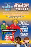 RSMA Children's Workshop / Bring A Buddy Break A Board