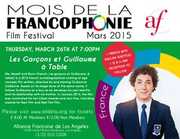 Screening ' Les garcons et Guillaume a table' in...