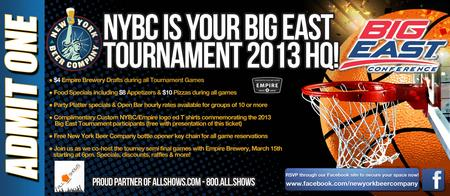 Big East Tournament 2013 with Empire Brewery
