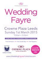 Wedding Fayre Crowne Plaza Leeds