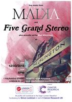 Malka & Five Grand Stereo Live - Fundraising Event