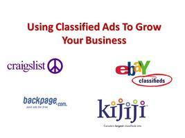 Getting Business from Classified Ads