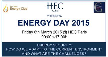HEC Paris 4th Annual Energy Day - Energy Security