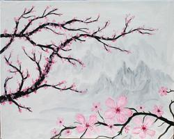 Pa'ina Paint Club - Cherry Blossoms in the Mist