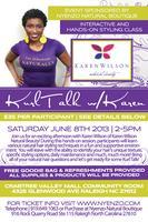 Raleigh, NC-Kurl Talk with Karen Wilson