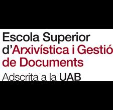 Escola Superior d'Arxivística i Gestió de Documents logo
