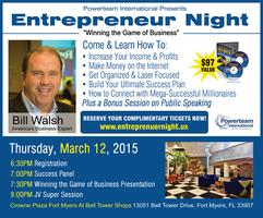 Entrepreneur Night - Winning the Game of Business