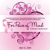 For Peace of Mind: A Women's Health Forum