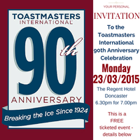 Toastmasters International 90th Anniversary |...
