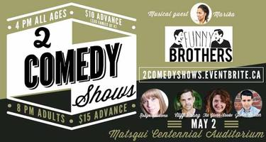 2 Comedy Shows on May 2