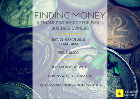 SME FINANCE WORKSHOP! FINDING MONEY