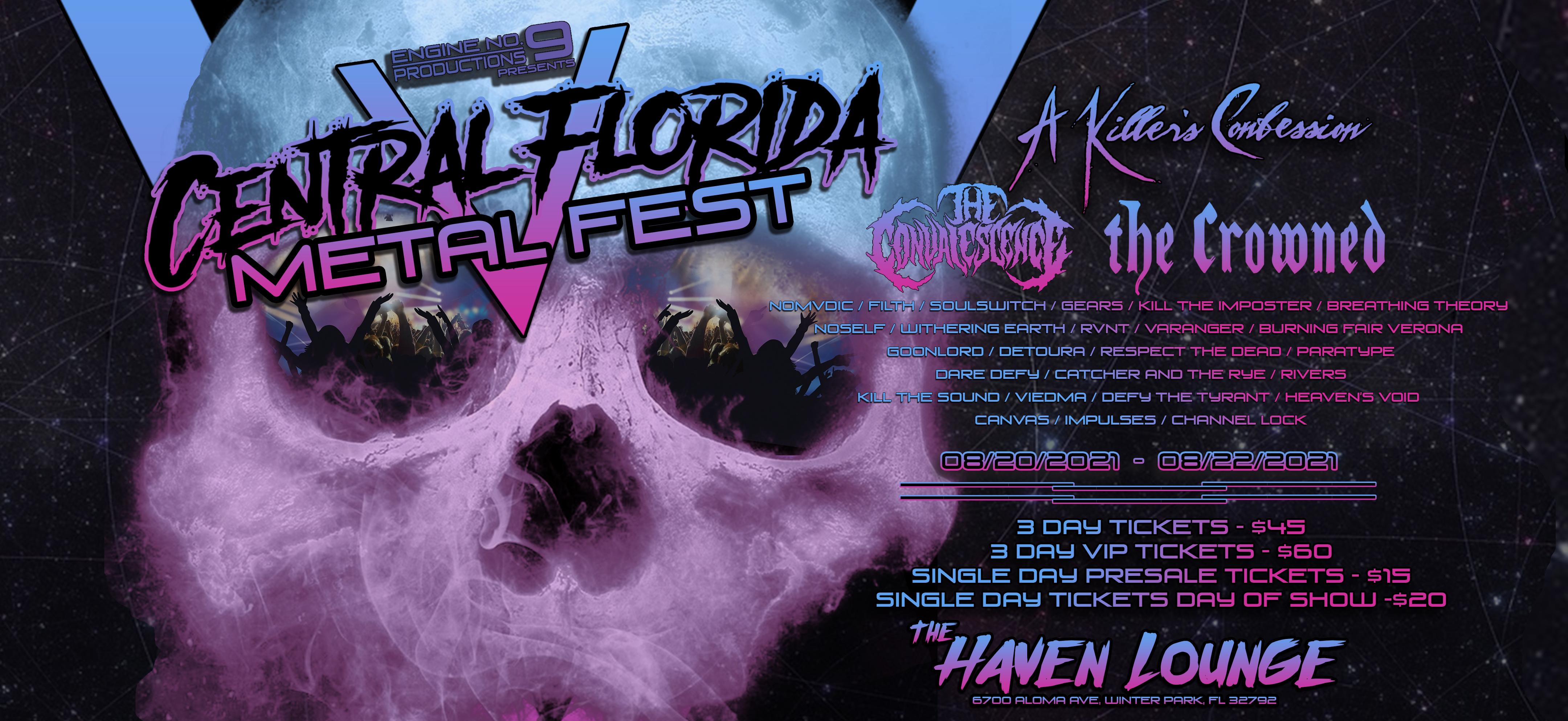 CENTRAL FLORIDA METAL FEST V Tickets, Fri, Aug 20, 2021 at 5:00 PM   Eventbrite