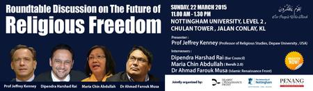 Roundtable Discussion on:  The Future of Religious...