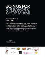 Sip, Savor & Shop Miami at The Falls