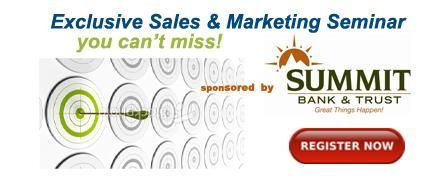 Exclusive Sales & Marketing Seminar From ActionCOACH