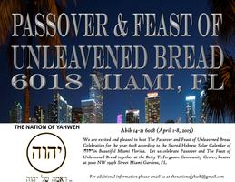 PASSOVER AND FEAST OF UNLEAVENED BREAD
