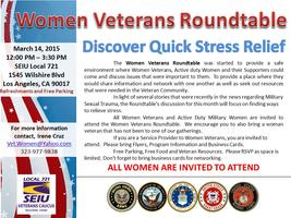 Women Veterans RoundTable - Discover Quick Stress...