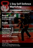 1 Day Self Defence Training Workshop with Dave Hedges