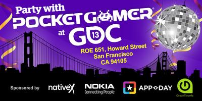The Pocket Gamer Party @ GDC with Native X, Nokia, Green...