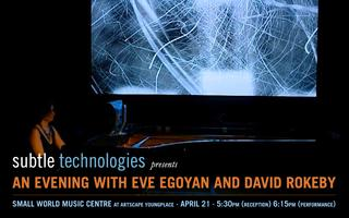 A Night with Eve Egoyan and David Rokeby