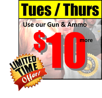 May Two Evenings - Tues & Thurs HANDGUN PERMIT CLASSES...