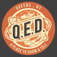Q.E.D. - A Place to Show & Tell logo