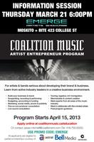 EMERGE/COALITION MUSIC ARTISTS ENTREPRENEUR PROGRAM...