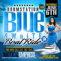Boom Blue & White Boatride