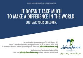 Apply to Join our Jr. Advisory Board - Application...