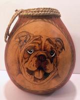 Gourd Art Class: Woodburning an Animal Portrait
