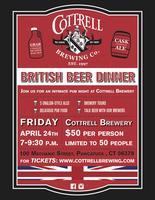 Cottrell British Beer Dinner