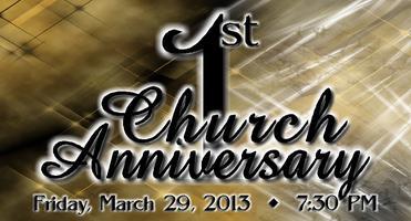 1st CHURCH ANNIVERSARY
