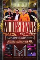Adolescentes en VIVO! @ Club Malibu NJ