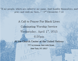 A Call To Prayer for Black Lives