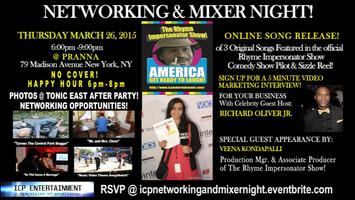 ICP ENT. NETWORKING & MIXER NIGHT! SONG RELEASE PARTY...