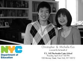 Christopher and Michelle Kuo, a benefit concert for P.S. 142