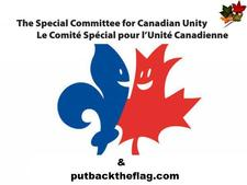 putbacktheflag.com and Sponsored by SCCU (The Special Committee for Canadian Unity logo