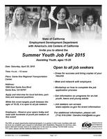 Summer Youth Job Fair 2015 *Job Seeker Registration*