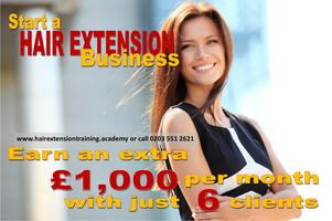 Start a Hair Extension Business 1 Day training course...