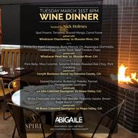 Spire Wine Dinner Hosted By Nick Holmes