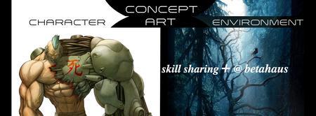 skill sharing+ @ betahaus | Concept Art с ENIRA и...