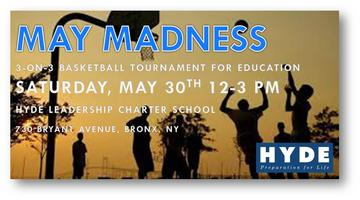May Madness 3-on-3 Basketball Tournament for Education