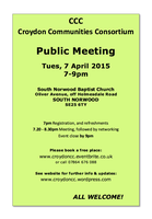 CCC - Public Meeting - South Norwood