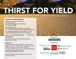 Thirst for Yield: UCLA Anderson 9th Annual Real Estate...